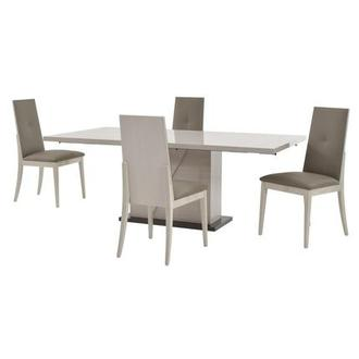 Mont Blanc 5-Piece Formal Dining Set Made in Italy