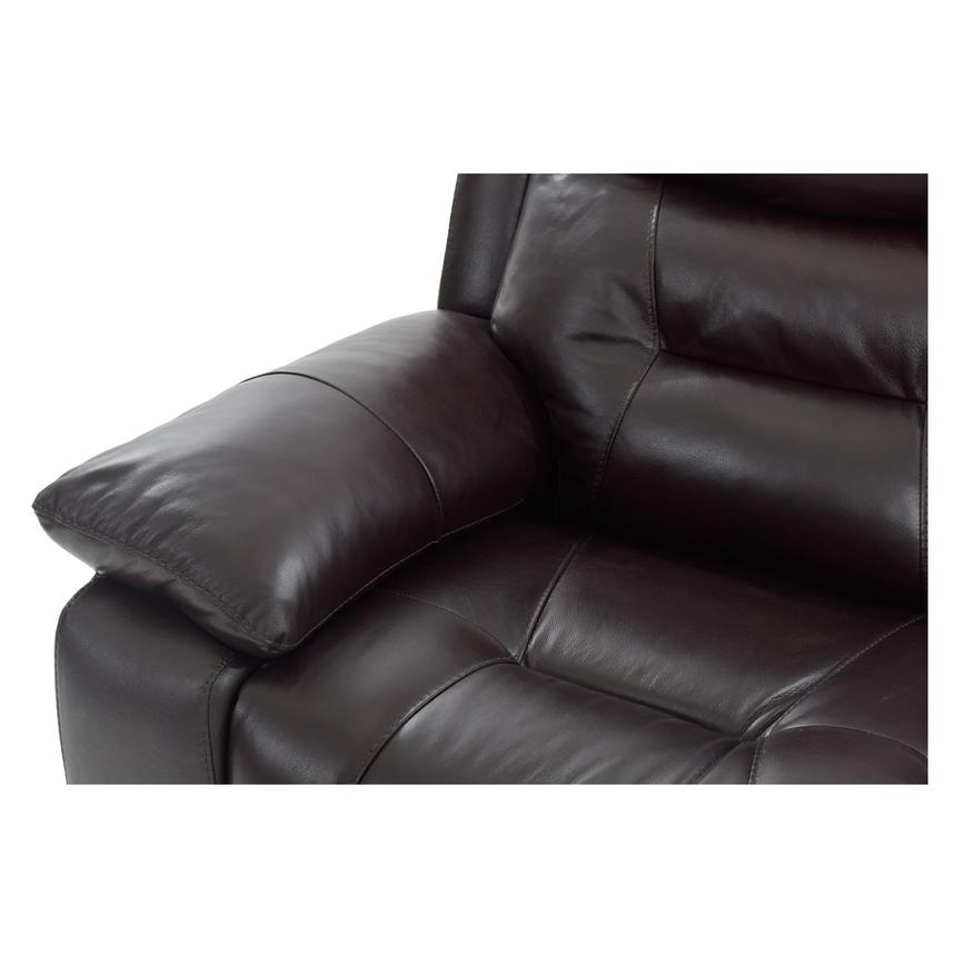 Berkeley Brown Power Motion Leather Sofa w/Right & Left Recliners  alternate image, 5 of 7 images.