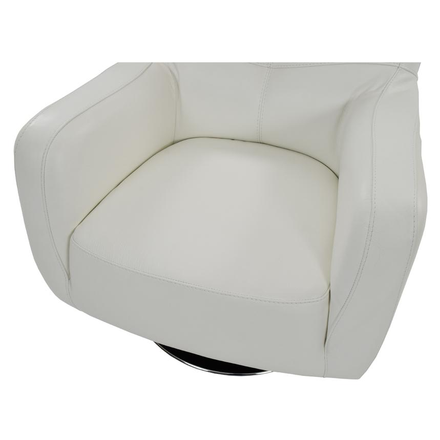 Verona White Leather Swivel Chair  alternate image, 5 of 5 images.
