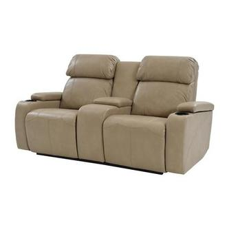 Magnetron Cream Power Motion Sofa w/Console