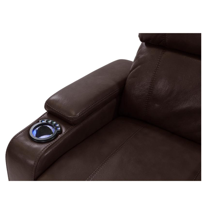 Magnetron Brown Power Motion Recliner  alternate image, 5 of 6 images.