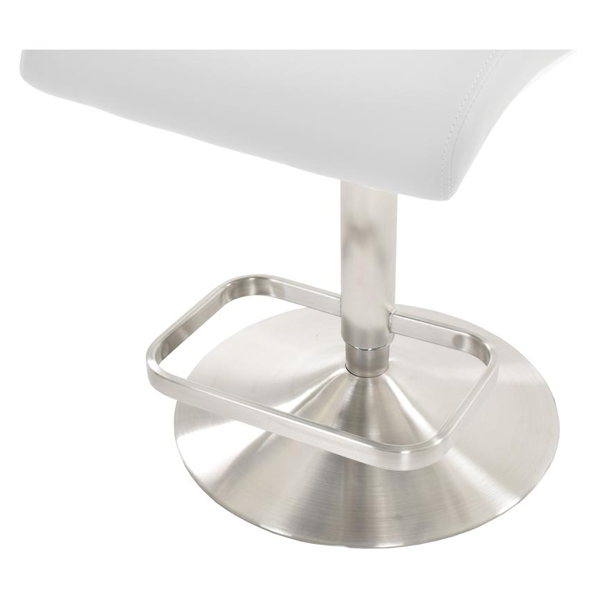 Fogo White Adjustable Stool  alternate image, 5 of 5 images.