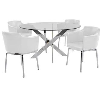 Dusty White 5-Piece Casual Dining Set