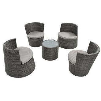 Tower Gray 5-Piece Patio Set (Sold By Set Only)