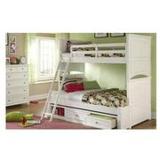 Kailee White Twin Over Full Bunk Bed  alternate image, 2 of 8 images.