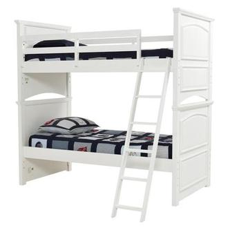 Kailee White Twin Over Twin Bunk Bed