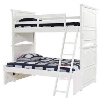 Kailee White Twin Over Full Bunk Bed