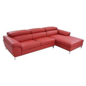 Costa Red Sofa w/Right Chaise