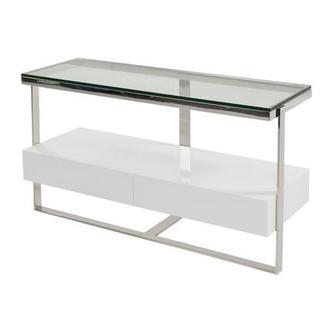 white sofa table. Calypso White Console Table Sofa
