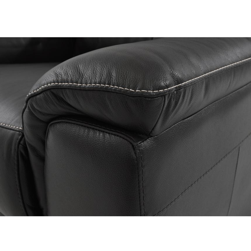 Davis Black Power Motion Leather Sofa w/Right & Left Recliners  alternate image, 4 of 8 images.