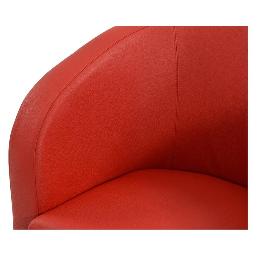 Delia Red Swivel Accent Chair  alternate image, 4 of 6 images.