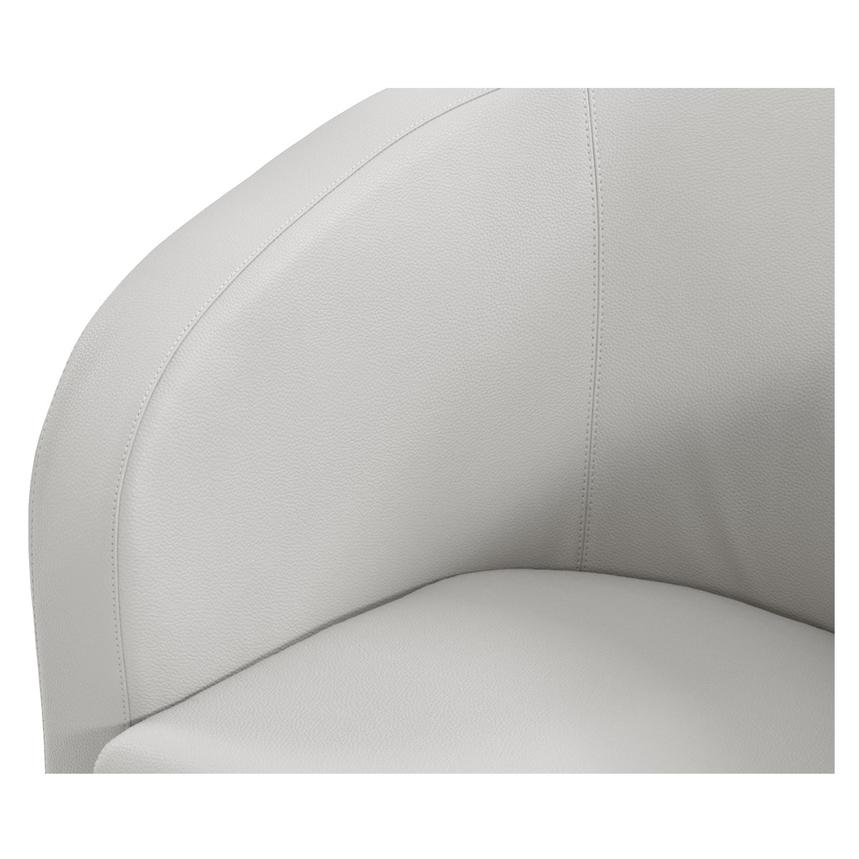 Delia White Swivel Accent Chair  alternate image, 4 of 5 images.