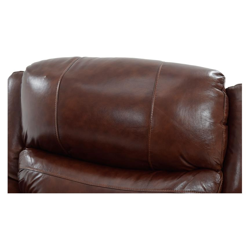Abilene Recliner Leather Sofa w/Console  alternate image, 5 of 8 images.