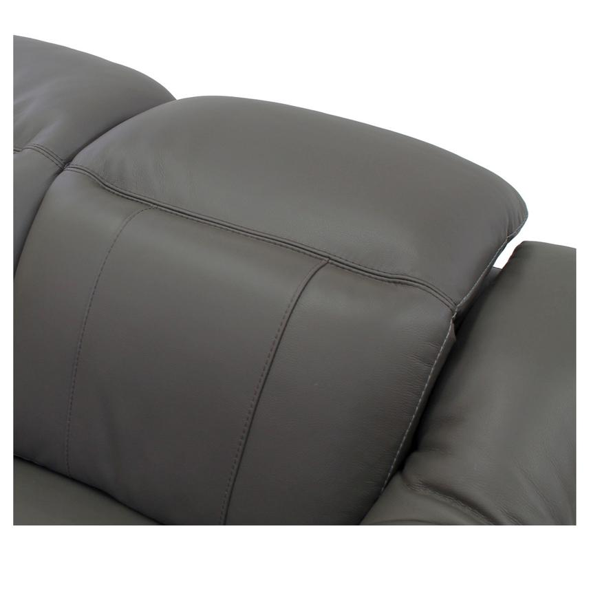 Davis Gray Power Motion Leather Sofa w/Right & Left Recliners  alternate image, 4 of 11 images.