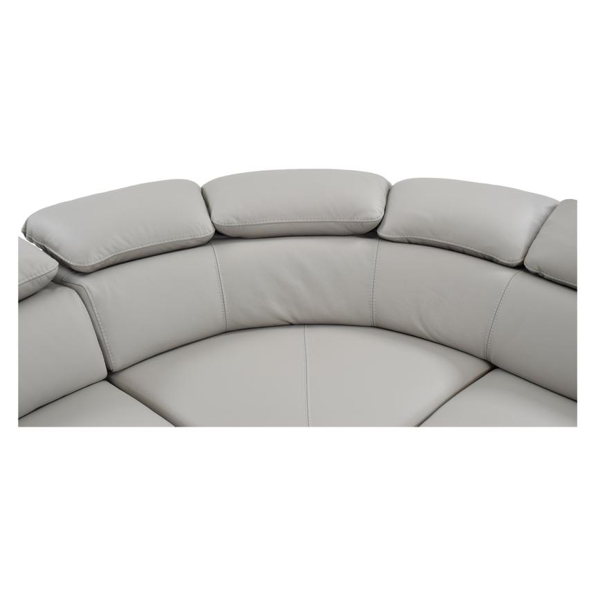 Tesla Gray Leather Sofa w/Right Chaise  alternate image, 4 of 8 images.