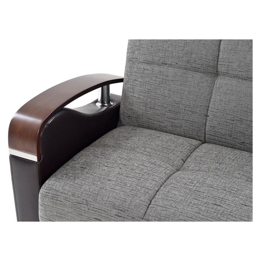 Peron Gray Futon Sofa El Dorado Furniture