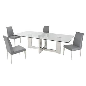 Opus Gray 5-Piece Formal Dining Set