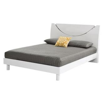Jolie White King Platform Bed