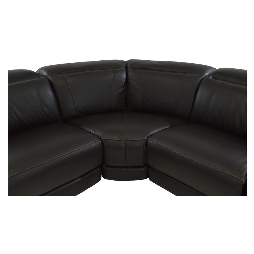 Davis Brown Power Motion Leather Sofa w/Right & Left Recliners  alternate image, 5 of 10 images.