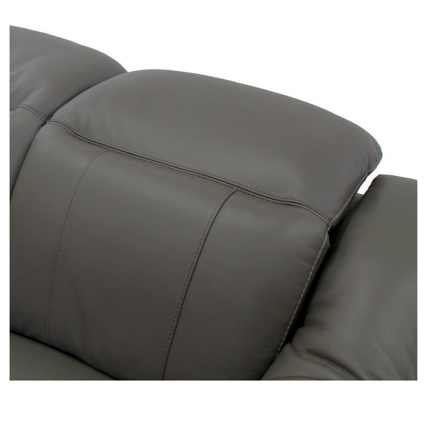 Davis Gray Power Motion Leather Sofa w/Right & Left Recliners  alternate image, 4 of 9 images.