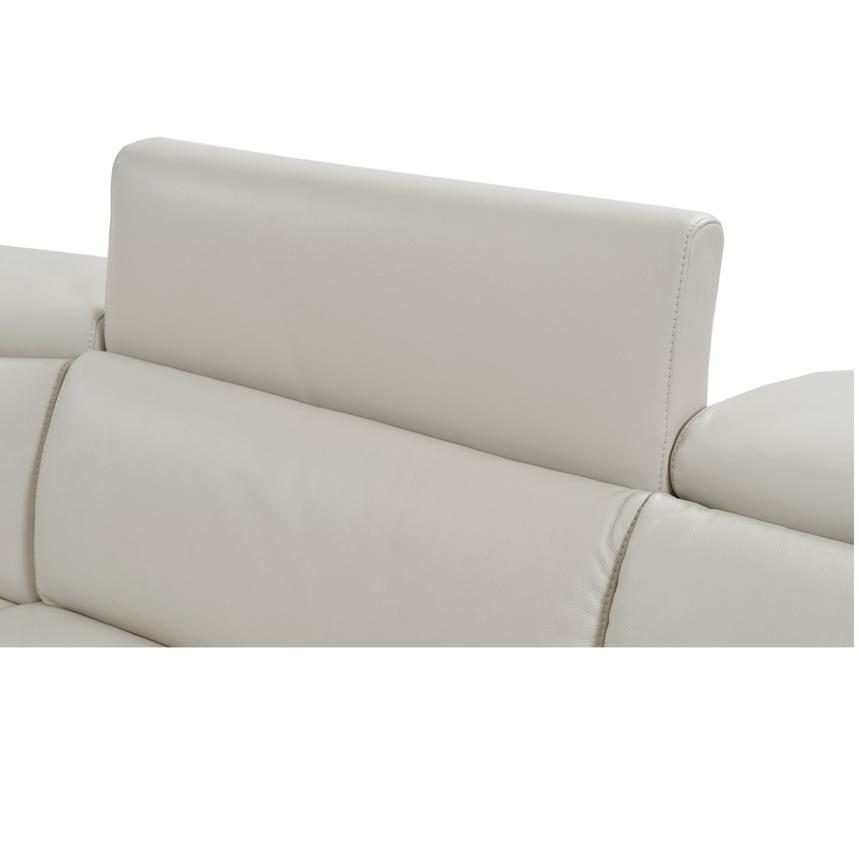 Bay Harbor Cream Power Motion Leather Sofa w/Right Sleeper  alternate image, 4 of 7 images.