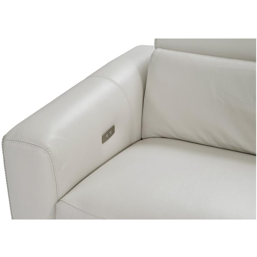 Bay Harbor Cream Power Motion Leather Sofa w/Right Sleeper  alternate image, 5 of 7 images.