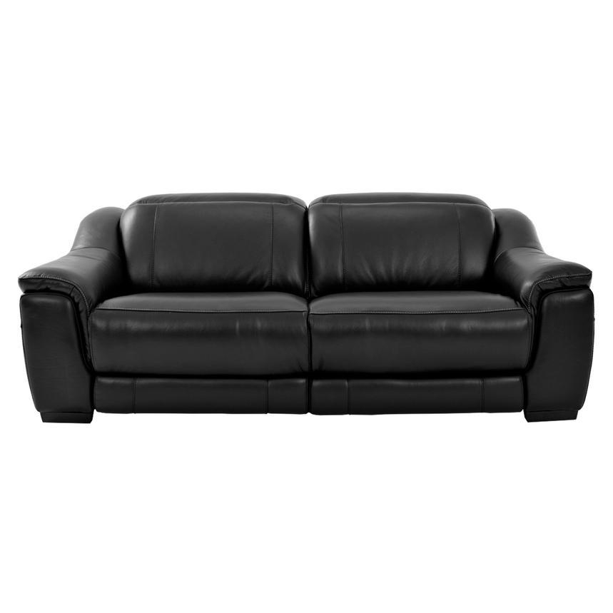 Davis Black Power Motion Leather Sofa Alternate Image, 3 Of 10 Images.