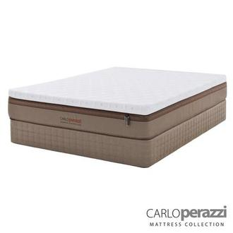 Naples Hybrid Full Mattress Set w/Regular Foundation by Carlo Perazzi