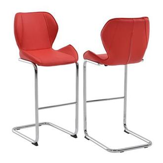 Latika Red Bar Stool