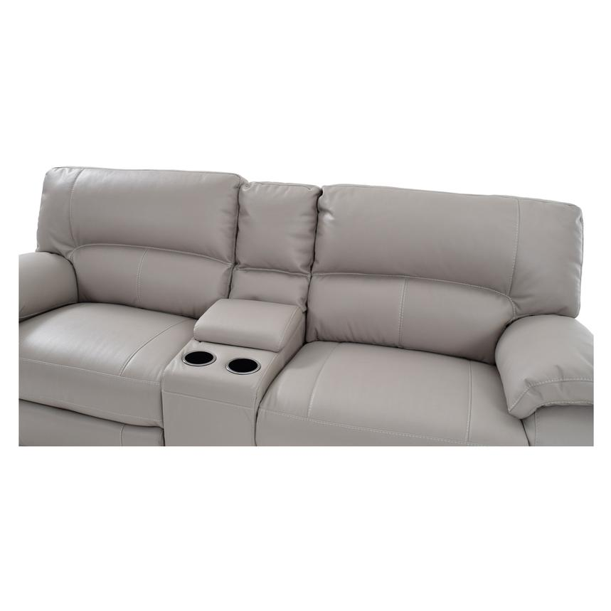 Camillo Gray Power Motion Sofa w/Console  alternate image, 5 of 7 images.