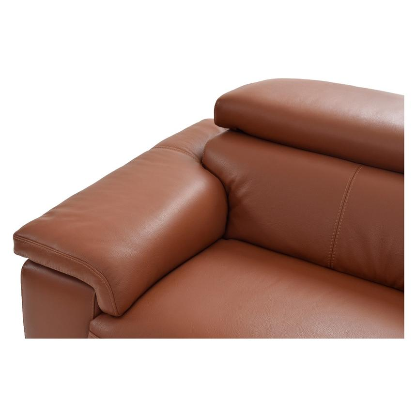 Nathan Tan Power Motion Leather Sofa w/Right & Left Recliners  alternate image, 5 of 8 images.