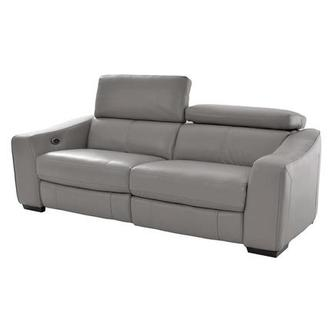 James Gray Power Motion Recliner Leather Sofa