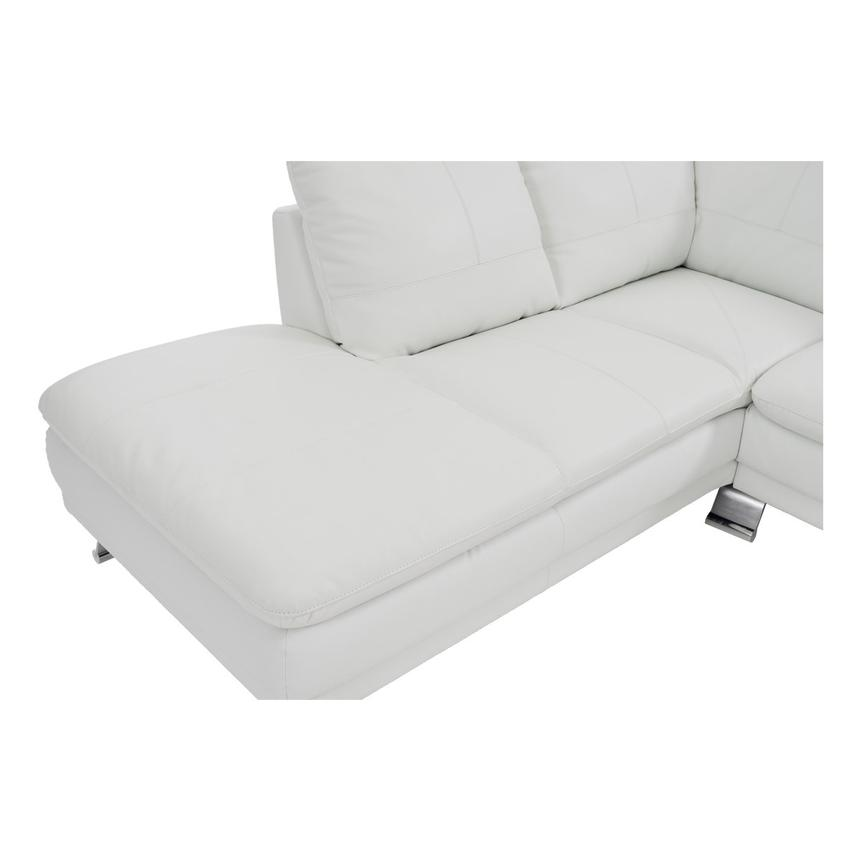 Rio White Leather Sofa w/Left Chaise  alternate image, 5 of 8 images.