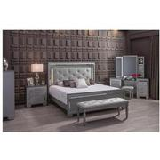 Isabel Gray Queen Panel Bed El Dorado Furniture