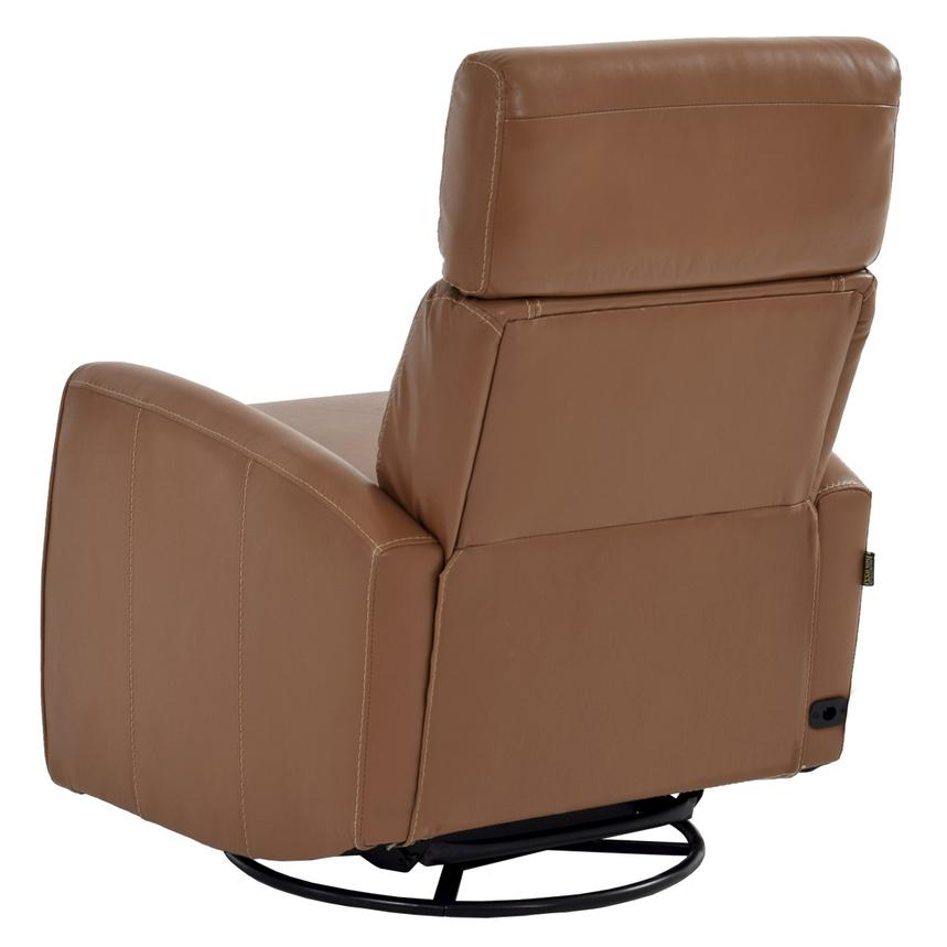 Lucca Brown Power Motion Leather Recliner  alternate image, 4 of 7 images.