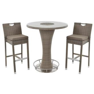 Neilina Brown 3 Piece Patio Set W Ice Bucket