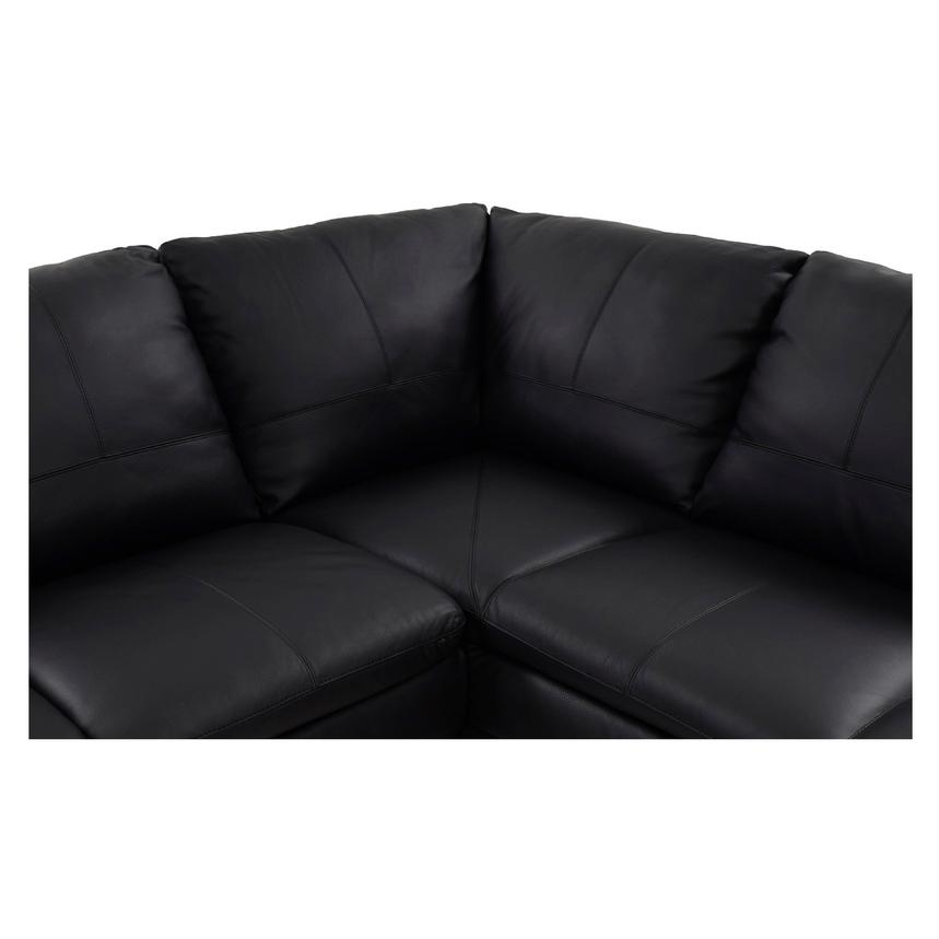 Rio Black Leather Sofa w/Right Chaise  alternate image, 5 of 8 images.