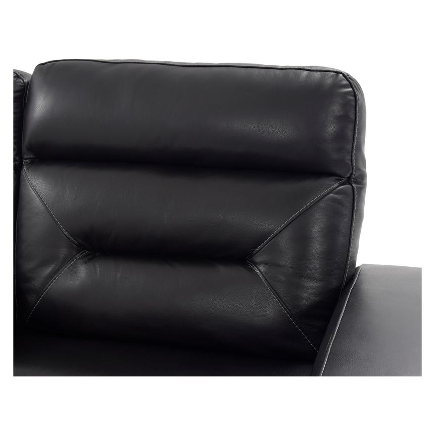 Rochester Black Power Motion Leather Sofa w/Console  alternate image, 5 of 10 images.