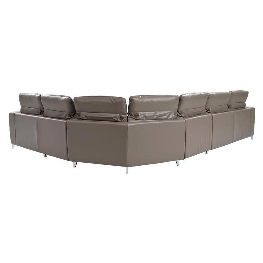 Gaspy Gray Power Motion Leather Sofa w/Right & Left Recliners  alternate image, 4 of 11 images.