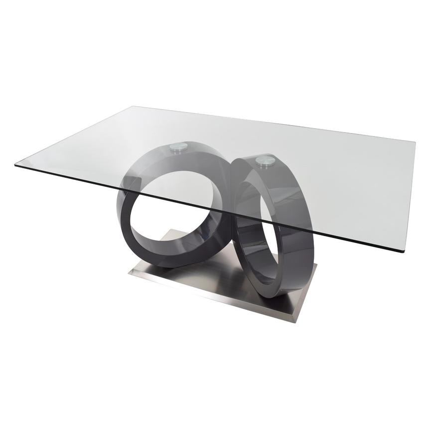 Stop 36 Gray Rectangular Dining Table  alternate image, 4 of 7 images.