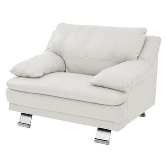 Rio White Leather Occasional Chair