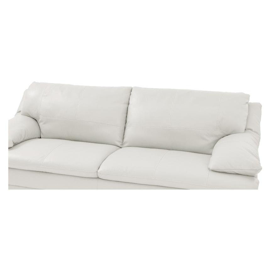 Rio White Leather Sofa  alternate image, 5 of 6 images.