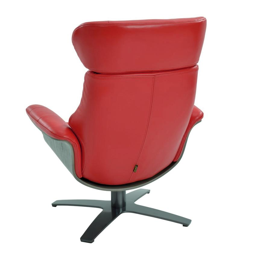 Enzo Red Leather Swivel Chair  alternate image, 4 of 9 images.