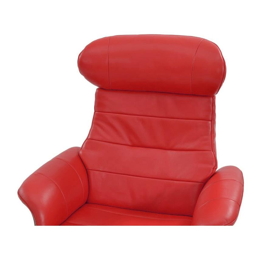 Enzo Red Leather Swivel Chair  alternate image, 5 of 10 images.