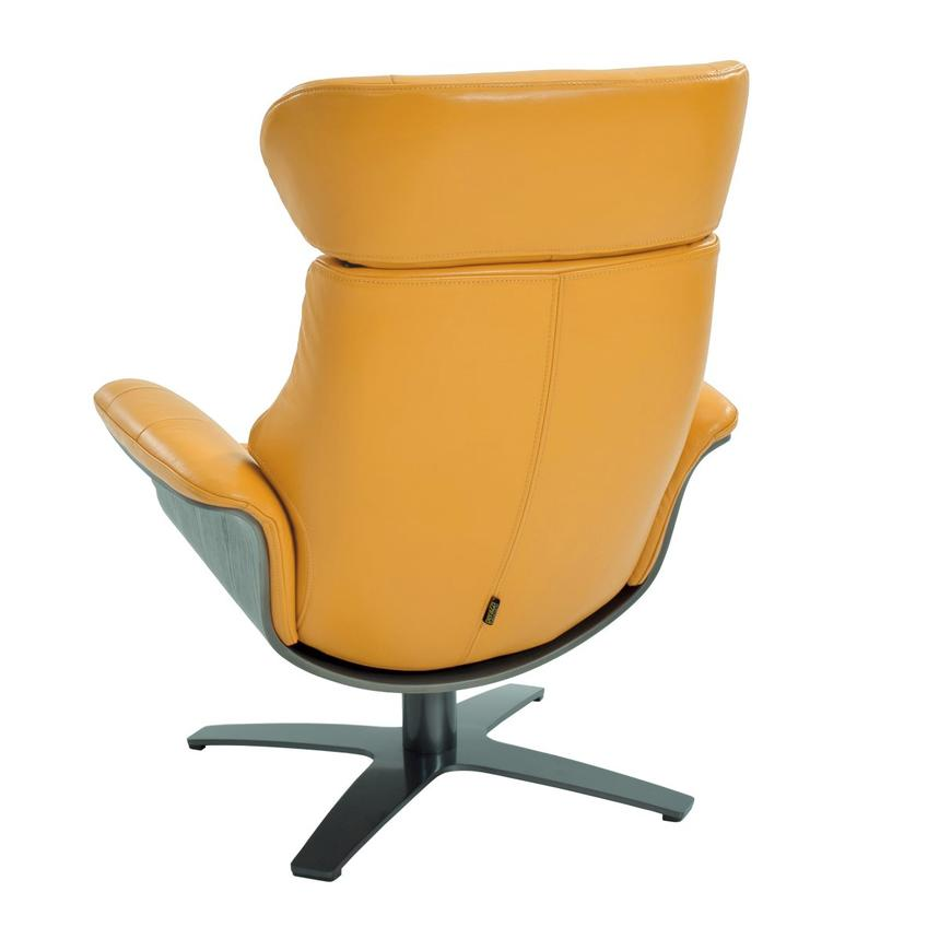 Enzo Yellow Leather Swivel Chair  alternate image, 4 of 9 images.