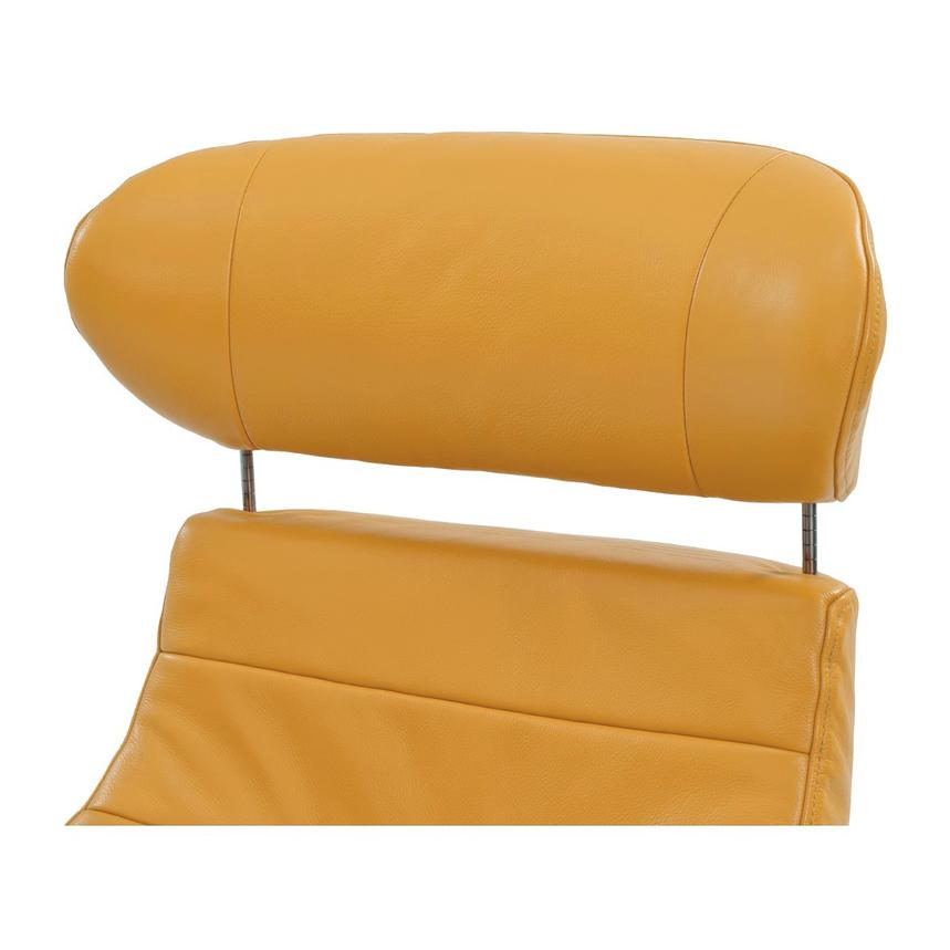 Enzo Yellow Leather Swivel Chair  alternate image, 6 of 10 images.