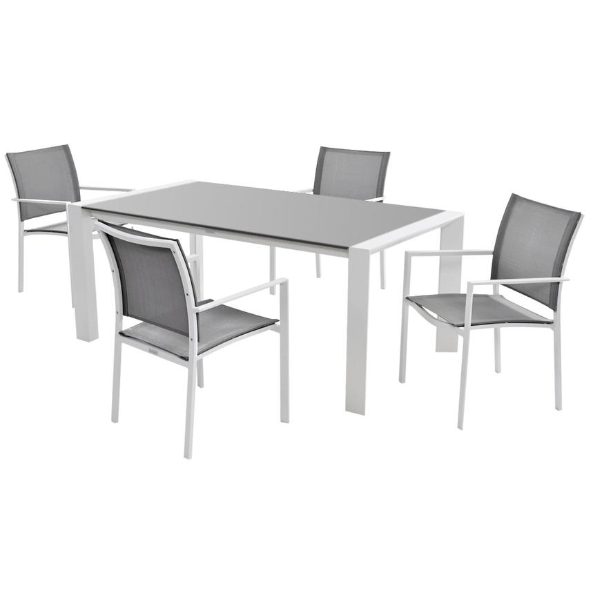 Mykonos Gray 5Piece Patio Set El Dorado Furniture