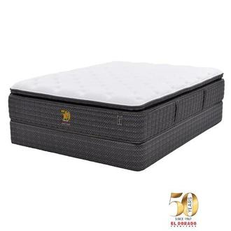 50th Anniversary Soft Full Mattress Set w/Low Foundation by Carlo Perazzi