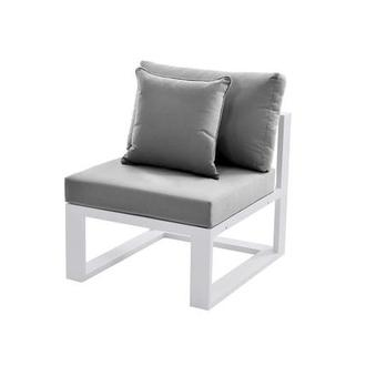 Mykonos Gray Armless Chair