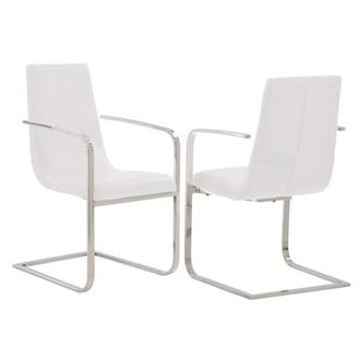 Lea White Arm Chair